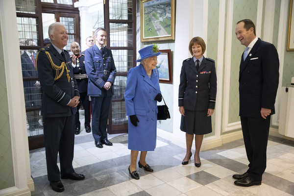 Queen visits RAF club where Futurefile UK has contributed with furnitue
