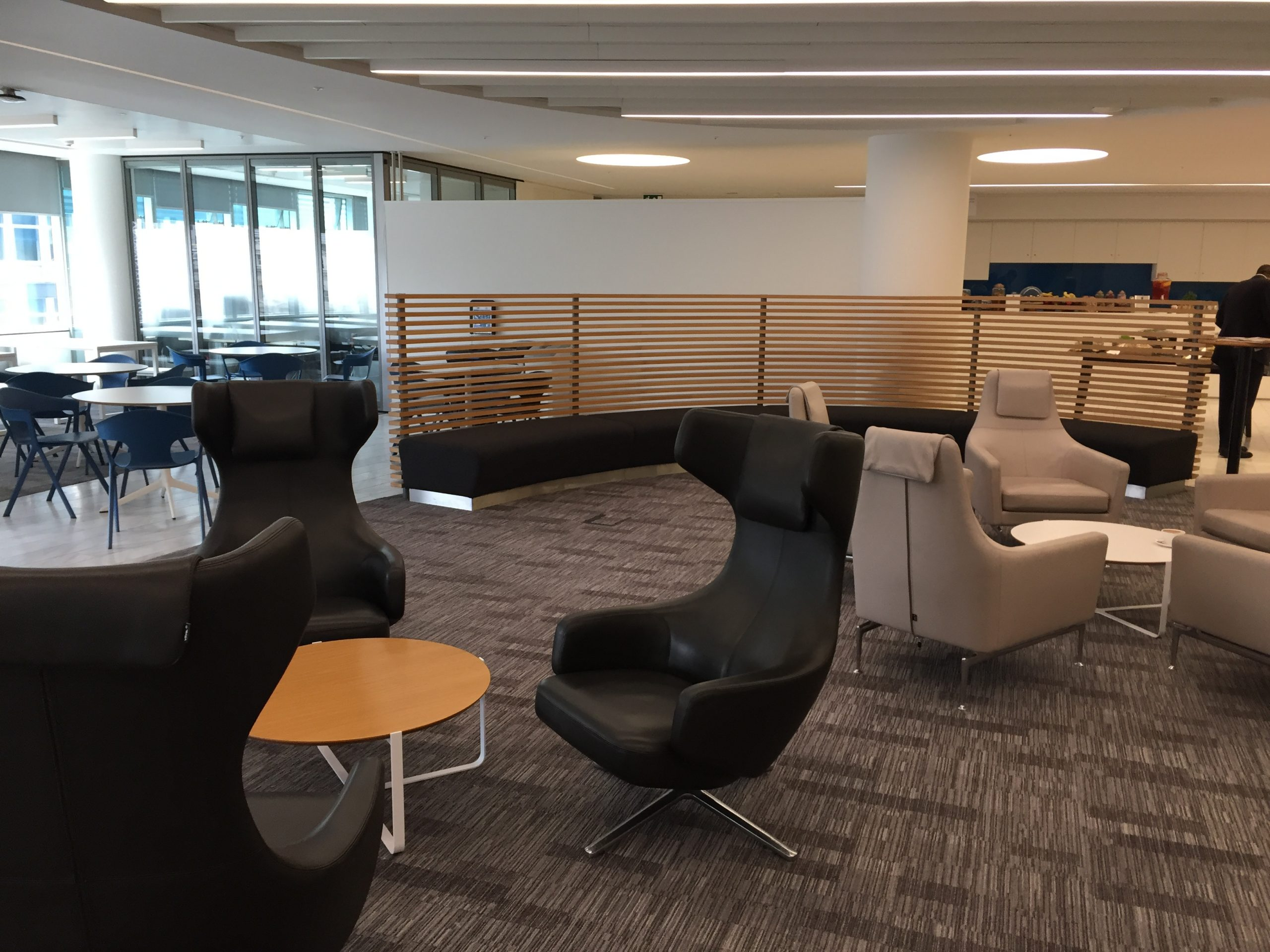 High Back Leather Wing Chairs bench seating and tables scaled