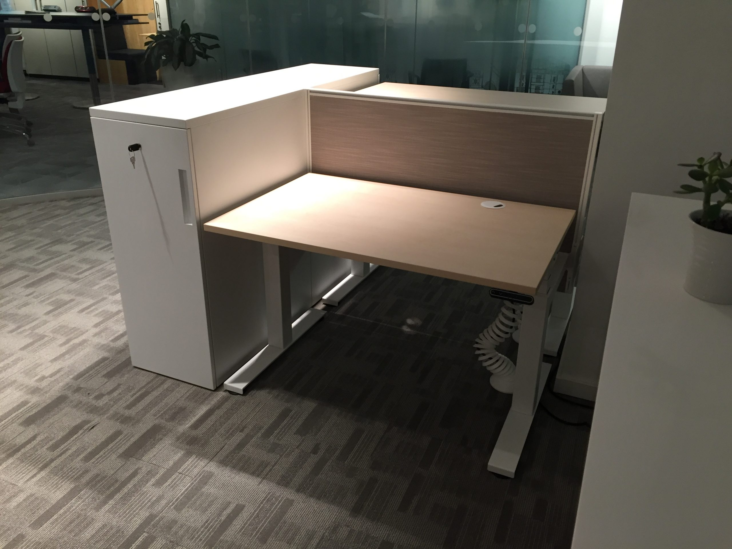 Operation Sit Stand Desk Tower Closed scaled