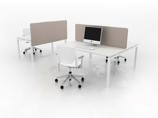 Office space planning with spine screens for desks Futurefile