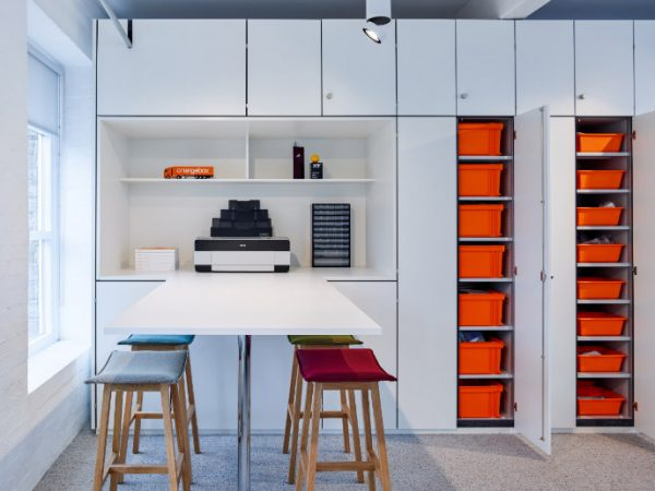 Office wall storage cupboards and top box