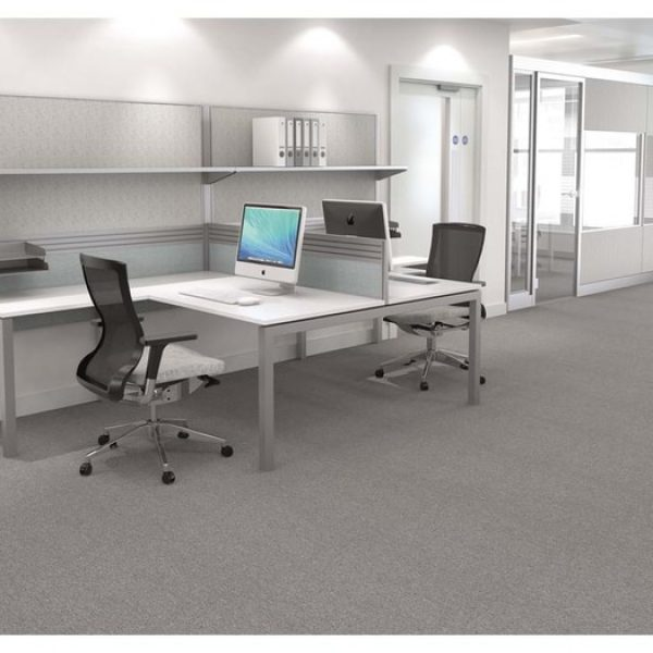 Work wall with white desk and chairs Space planning services Essex