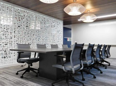office space modern white partition